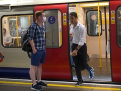 London Underground usage is regularly reaching at least half of pre-pandemic levels (Yui Mok/PA)
