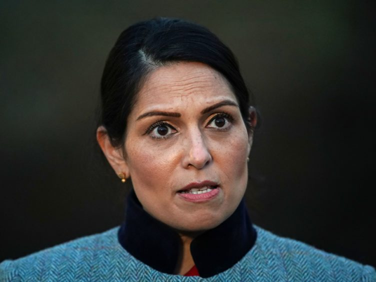 Priti Patel has been looking at how Greece deals with migrants during a two-day trip to the country (Aaron Chown/PA)