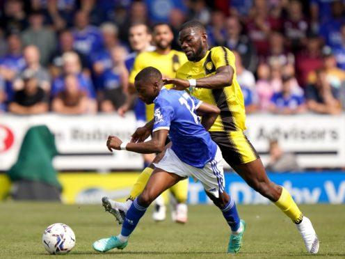 Burton's Deji Oshilaja, right, is set to be sidelined (Tim Goode/PA)
