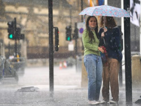 Forecasters have warned thunderstorms are set to strike much of the UK on Saturday (Victoria Jones/PA)