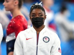 Simone Biles is set to withdraw from the remainder of the Tokyo Olympics (Martin Rickett/PA)