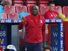 Crystal Palace manager Patrick Vieira earned his first managerial point in the Premier League against Brentford last weekend (Tess Derry/PA)
