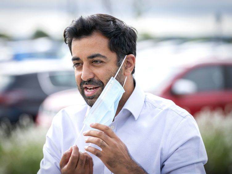 Health Secretary Humza Yousaf said contact tracers will now only call high risk people, with text messaging to be used by default (Jane Barlow/PA)