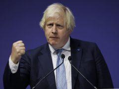 Prime Minister Boris Johnson during a London-based summit to raise funds for the Global Partnership for Education (GPE) (Tolga Akmen/PA)