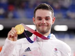 Great Britain's Matt Walls with his gold medal (Danny Lawson/PA)
