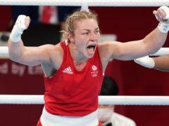 Great Britain's Lauren Price celebrates victory over Nouchka Fontijn (Martin Rickett/PA)