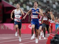 Great Britain's Josh Kerr (left) races to the line to win bronze in the 1500 metres (Martin Rickett/PA)