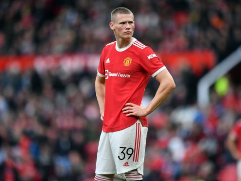 Manchester United midfielder Scott McTominay is set for a spell on the sidelines (Anthony Devlin/PA)
