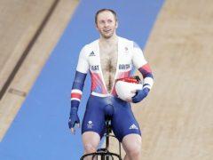 Jason Kenny celebrates his gold medal on Sunday (Danny Lawson/PA)