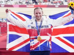 Jason Kenny celebrates with his seventh gold medal (Danny Lawson/PA)
