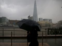 London and the south east has seen almost a month of rainfall (Hollie Adams/PA)
