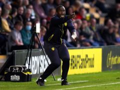 Jimmy Floyd Hasselbaink was not getting carried away after a third win of the season (Jacob King/PA)