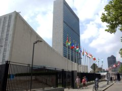The United Nations Headquarters building in New York (Osamu Honda/AP)