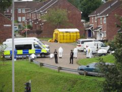 Forensic officers in Biddick Drive in the Keyham area of Plymouth (Ben Birchall/PA)