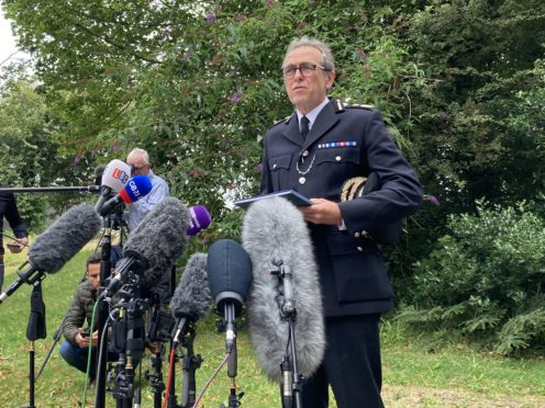 Chief Constable Shaun Sawyer speaking to the media on Friday (Rod Minchin/PA)