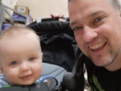 David Louden and his three-year-old son Harrison were found dead at their home (West Mercia Police/PA)