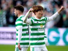 Celtic's Kyogo Furuhashi during a match against AZ Alkmaar last week (Andrew Milligan/PA)