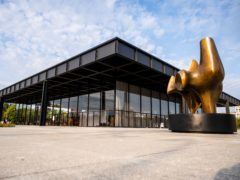 The Neue Nationalgalerie modern art museum in Berlin, Germany, has reopened following a six-year refurbishment led by British architect David Chipperfield (Christophe Gateau/dpa/AP)