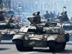The military parade to celebrate independence day in Ukraine (Efrem Lukatsky/AP)