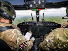 Royal Navy Helicopter conducts assistance flights over Haiti (Credit: Rory Arnold/MoD/Crown Copyright)