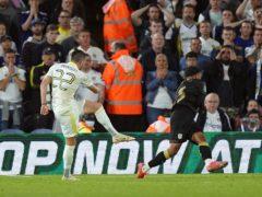 Jack Harrison scored twice for Leeds (Mike Egerton/PA)