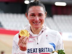 Great Britain's Sarah Storey celebrated another Paralympic gold (Tim Goode/PA)