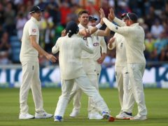 James Anderson took three wickets (Nigel French/PA)