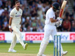 Anderson celebrates the wicket of Kohli (Nigel French/PA)