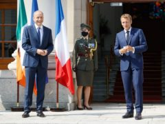 Micheal Martin greeting French President Emmanuel Macron (Julien Behal)