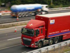 An HGV lorry on the M4 motorway near Datchet, Berkshire (PA)