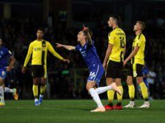 Callum Wright celebrates his goal at Burton (Bradley Collyer/PA)
