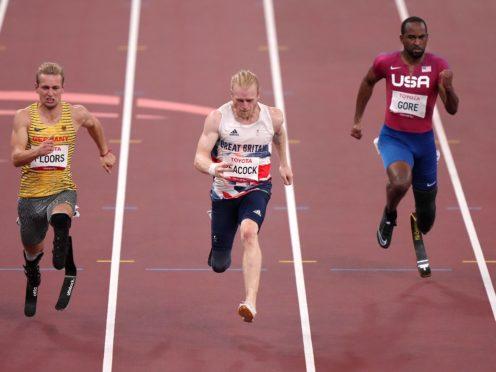 Jonnie Peacock won bronze in the 100m T64 final (Tim Goode/PA)