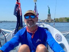 Ian Rivers sets off from New York to row across the Atlantic unsupported (Ian Rivers/PA)