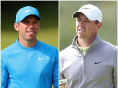Paul Casey and Rory McIlroy were involved in a play-off (Richard Sellers/David Davies/PA)