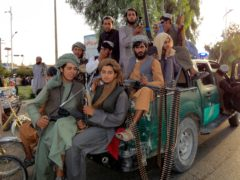Taliban fighters have recaptured most of Afghanistan in just over a week (Sidiqullah Khan/AP)