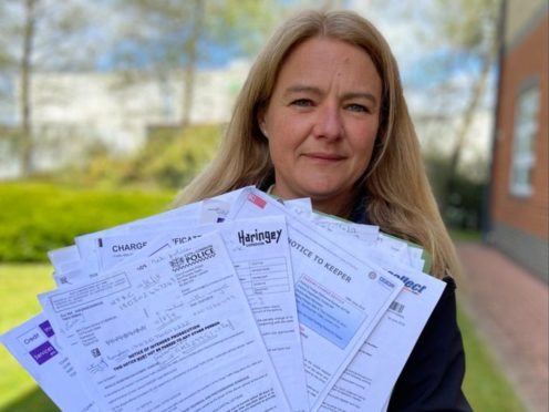 Claire Herron received fines totalling nearly £20,000 and had visits from bailiffs after her car number plate was cloned (Office of the PCC for Cleveland/PA)