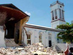 The Sacred Heart church in Les Cayes, Haiti (Delot Jean/AP)