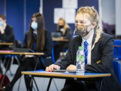 The head of the SSTA said face coverings may remain required in secondary schools for a 'good deal longer' (PA)