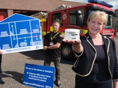 Ms Robinson launched the campaign at Blackness Road Fire Station in Dundee (Scottish Government/PA)