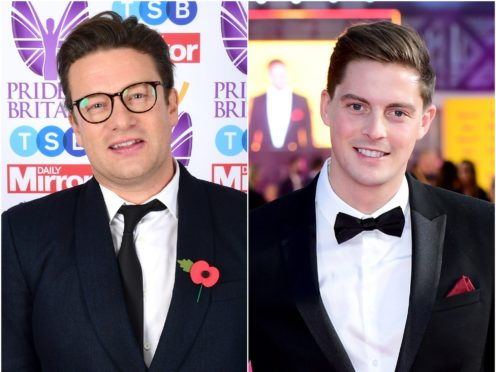 Celebrities including Jamie Oliver and Dr Alex George shared messages of support for students who received their A-level results (Ian West/PA)