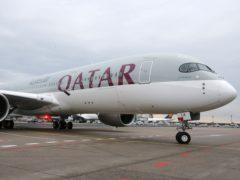 A Qatar Airways Airbus A350 (Michael Probst/AP)