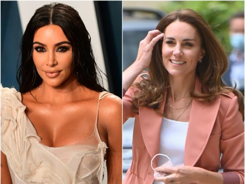 Kim Kardashian West has revealed she was left in tears after being compared to the Duchess of Cambridge while she was pregnant (PA)