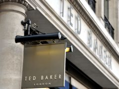 Ted Baker sales rose following the end of Covid-19 restrictions (Nick Ansell/PA)