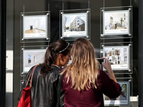 The flow of new homes being put on the market continued to fall in August, pushing the number of properties on estate agents' books close to record lows (Yui Mok/PA)