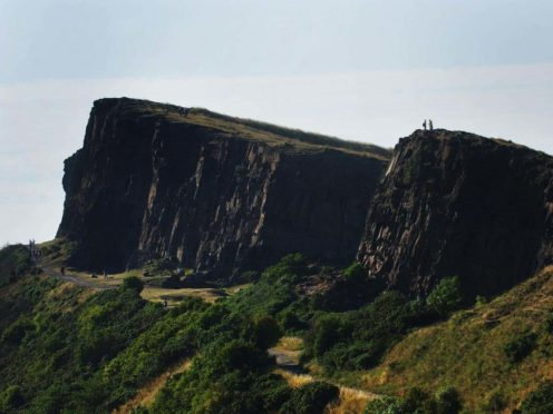 Ambulance and fire services attended the scene at Arthur's Seat (Danny Lawson/PA)