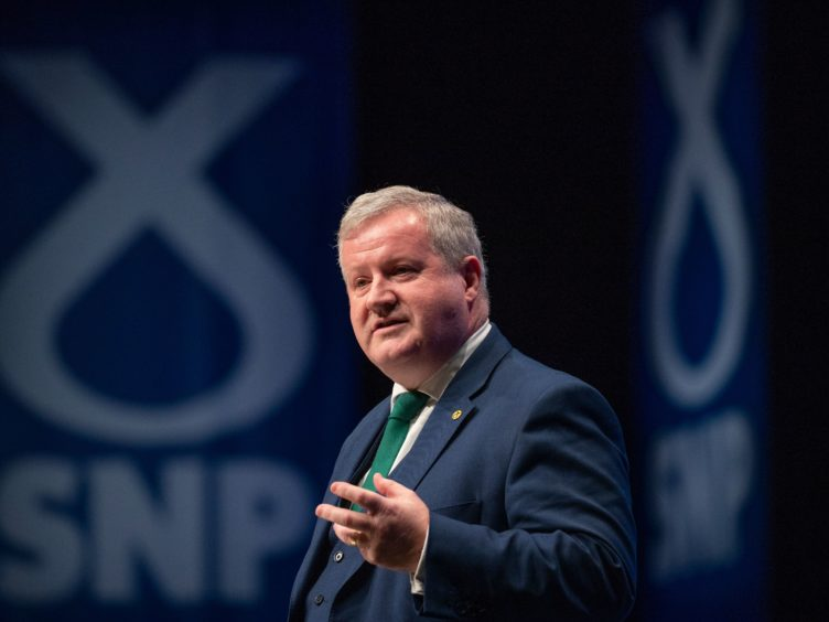 SNP Westminster leader Ian Blackford addressed the SNP conference (Jane Barlow/PA)