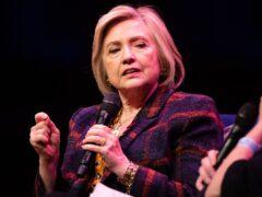 Hillary Clinton (Aaron Chown/PA)