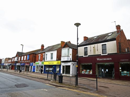 A quiet high street in West Bridgford, Nottingham. Research shows shops in Britain closed at an average of nearly 50 per day during the first half of the year (Tim Goode/PA)