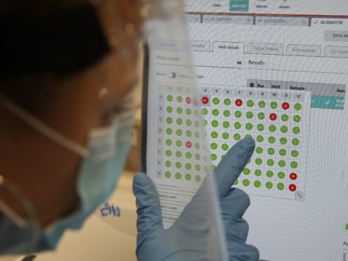 Scotland has carried out more than 10 million PCR tests (Andrew Miligan/PA)