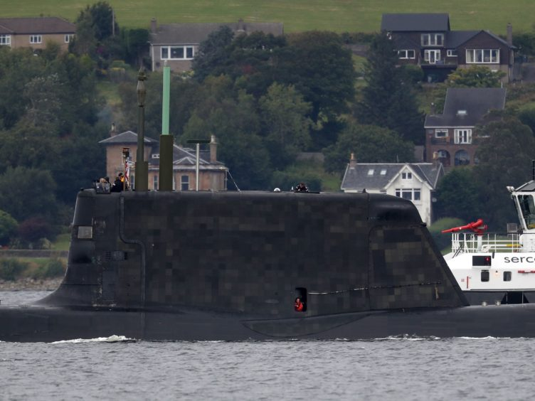 One of the Royal Navy's seven Astute-class nuclear-powered attack submarines (Andrew Milligan/PA)